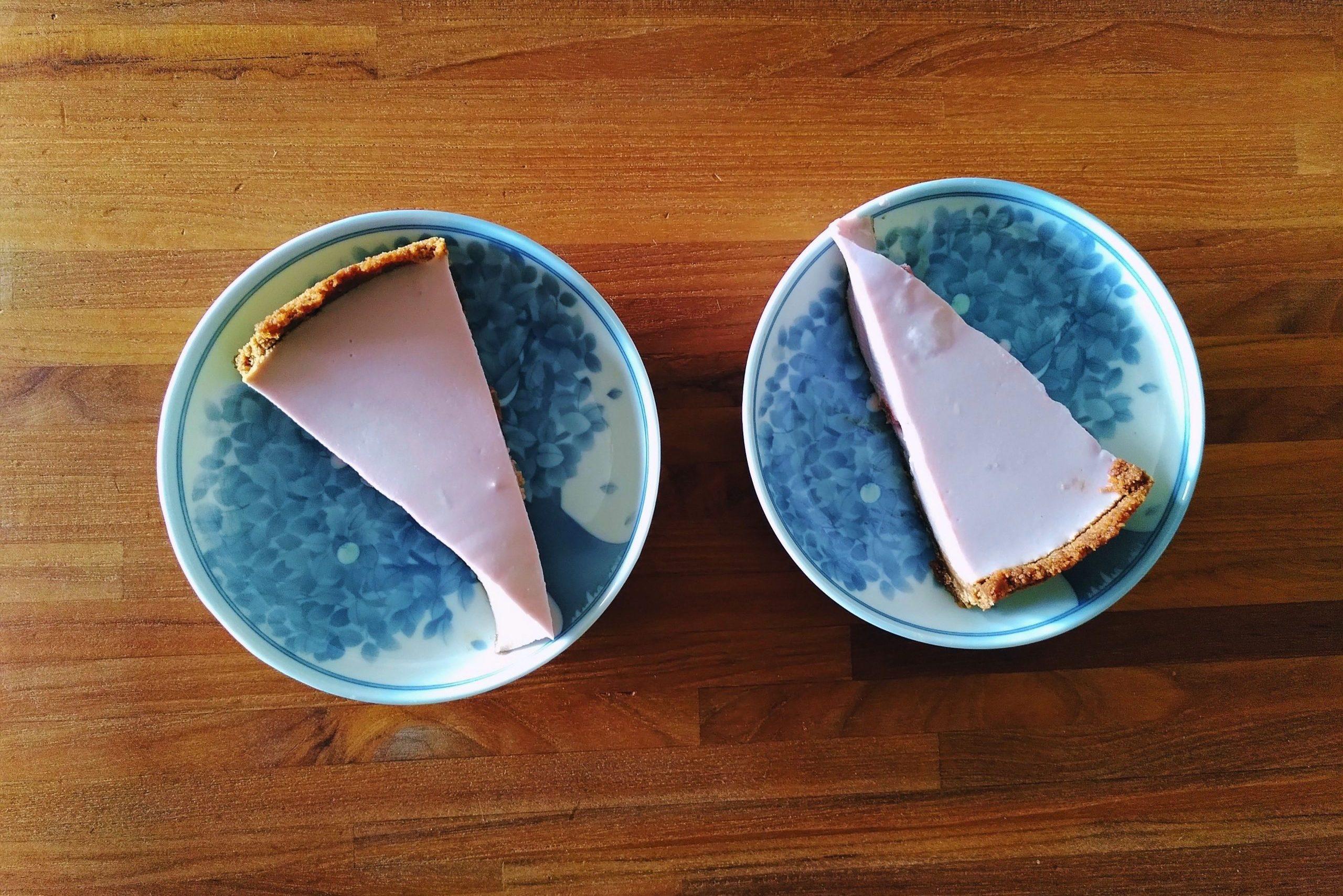 Easy vegan cherry 'cheesecake' recipe (nut-free!)